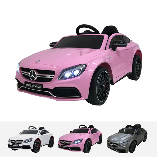 qy1588 mercedes c63 pink mercedes benz c63 amg licensed ride on car in painted pink