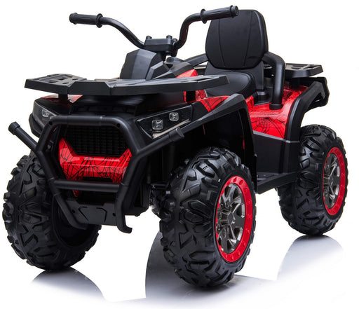 RiiRoo 12V Ride On Quad ATV Motorbike In Spider Red