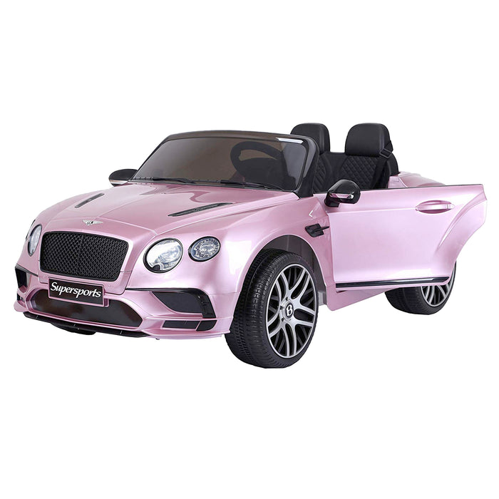 riiroo kids official licensed bentley continental supersport electric ride on car with parental remote pink 1 super sports 12v 2wd painted black