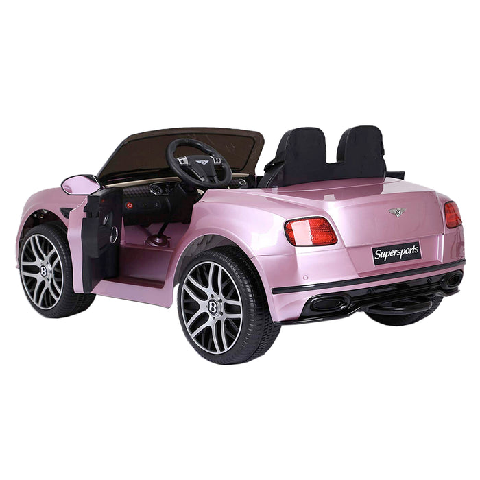 riiroo kids official licensed bentley continental supersport electric ride on car with parental remote pink 2 super sports 12v 2wd white