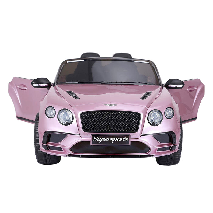 riiroo kids official licensed bentley continental supersport electric ride on car with parental remote pink 3 super sports 12v 2wd white