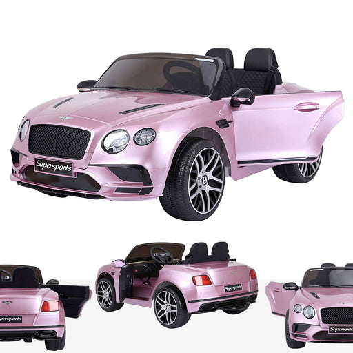 riiroo kids official licensed bentley continental supersport electric ride on car with parental remote pink Painted Pink super sports 12v 2wd painted pink