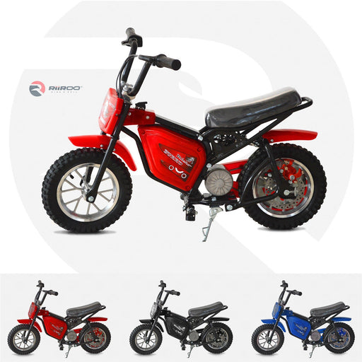 RiiRoo 250W Electric Mini Dirt Bike Red