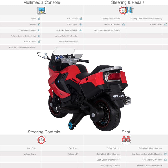 RiiRoo BMW F 800 GT Style Ride On Bike - 12V