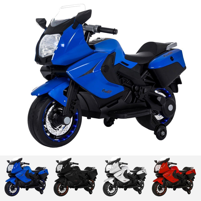 RiiRoo BMW F 800 GT Style Ride On Bike - 12V Blue