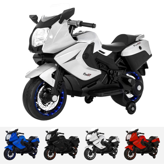 RiiRoo BMW F 800 GT Style Ride On Bike - 12V White