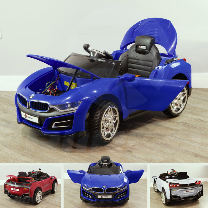 RiiRoo BMW i8 Style Ride On Car - 12V 2WD Blue