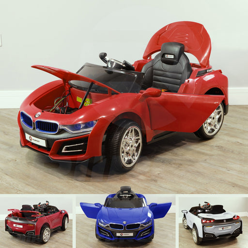 RiiRoo BMW i8 Style Ride On Car - 12V 2WD Red