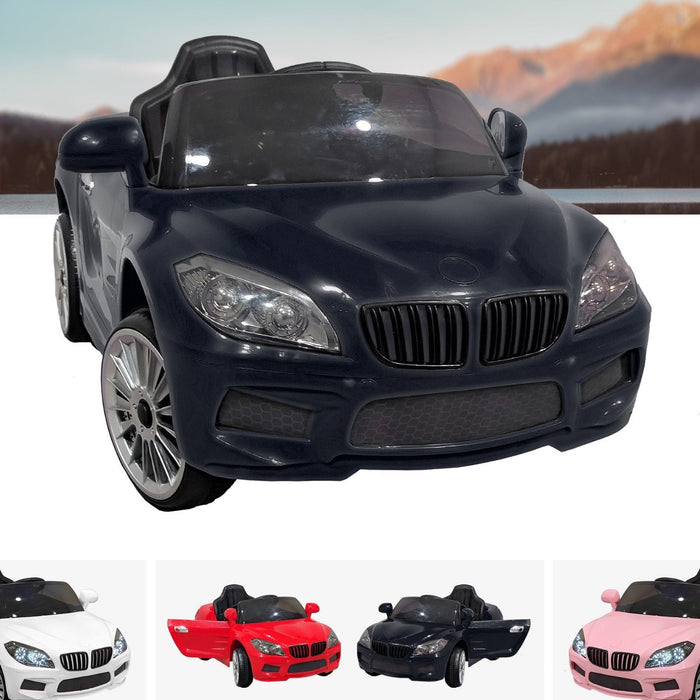 RiiRoo BMW M6 Coupe Style Ride On Car - 12V 2WD Black