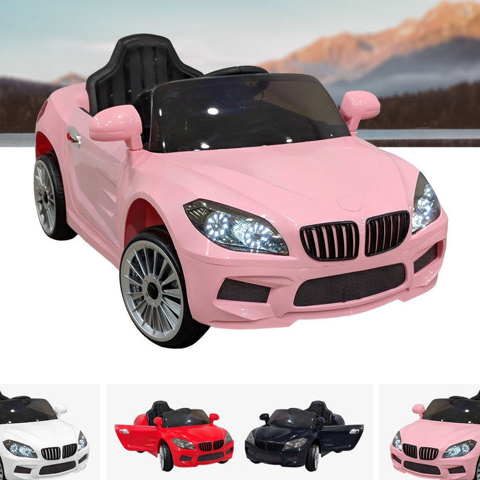 RiiRoo BMW M6 Coupe Style Ride On Car - 12V 2WD Pink