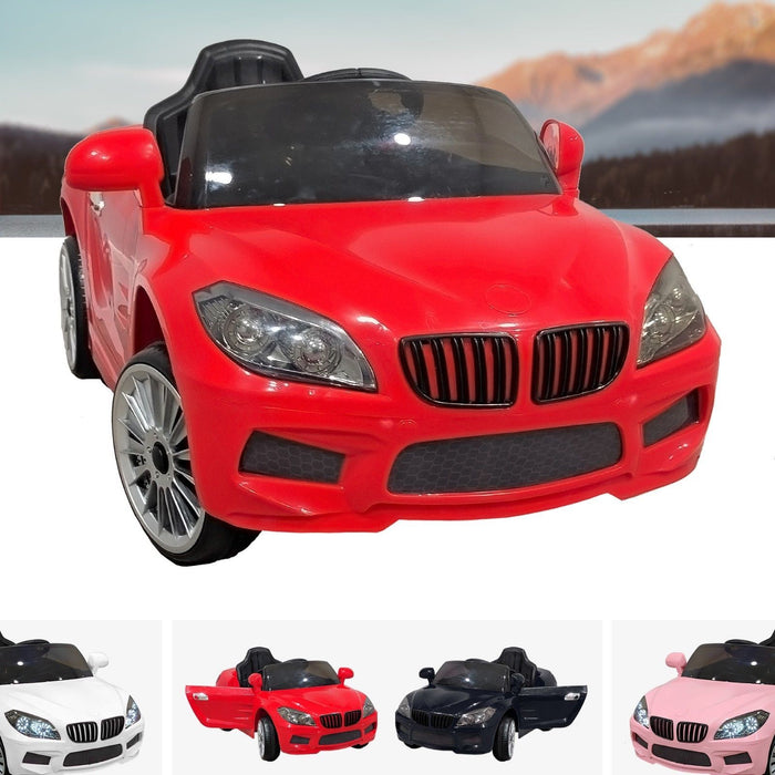 RiiRoo BMW M6 Coupe Style Ride On Car - 12V 2WD Red