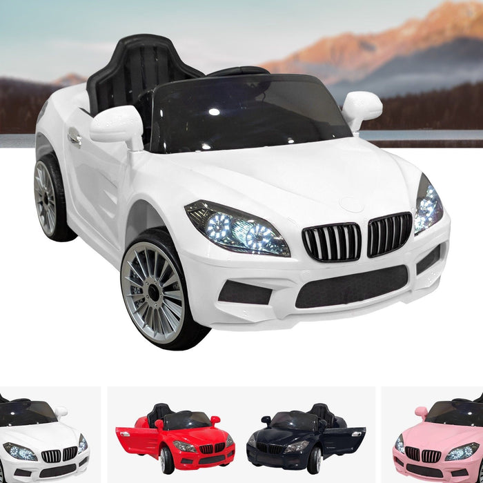 RiiRoo BMW M6 Coupe Style Ride On Car - 12V 2WD White