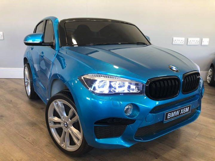 RiiRoo BMW X6M Sport Pack Ride On Car - 12V 2WD Blue