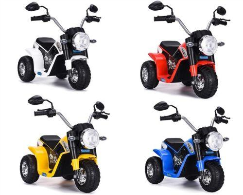 RiiRoo Ducati Chopper Style Kids 6V Battery Electric Ride On Motorbike/Trike White Blue Red