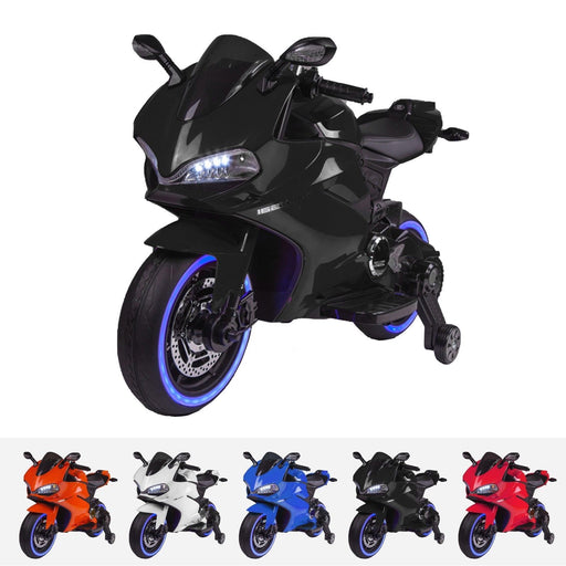 RiiRoo Ducati Style 12V Ride On Motorbike with MP3 Black