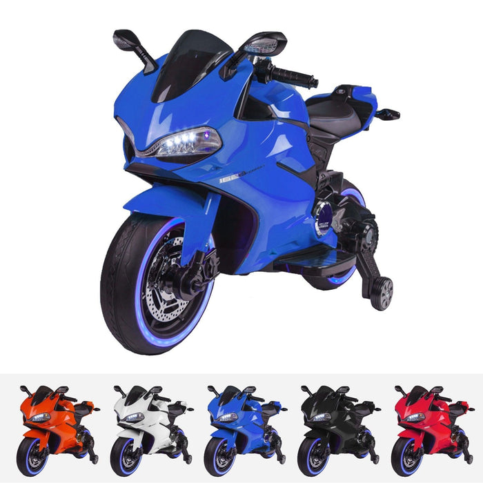 RiiRoo Ducati Style 12V Ride On Motorbike with MP3 Blue