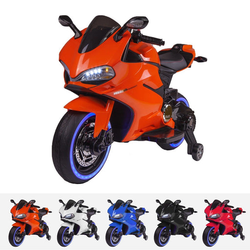 RiiRoo Ducati Style 12V Ride On Motorbike with MP3 Orange