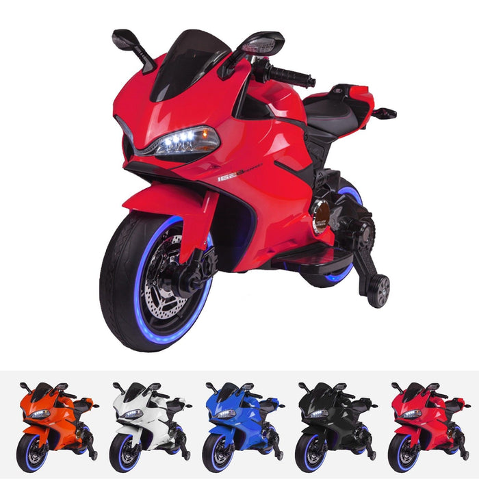 RiiRoo Ducati Style 12V Ride On Motorbike with MP3 Red