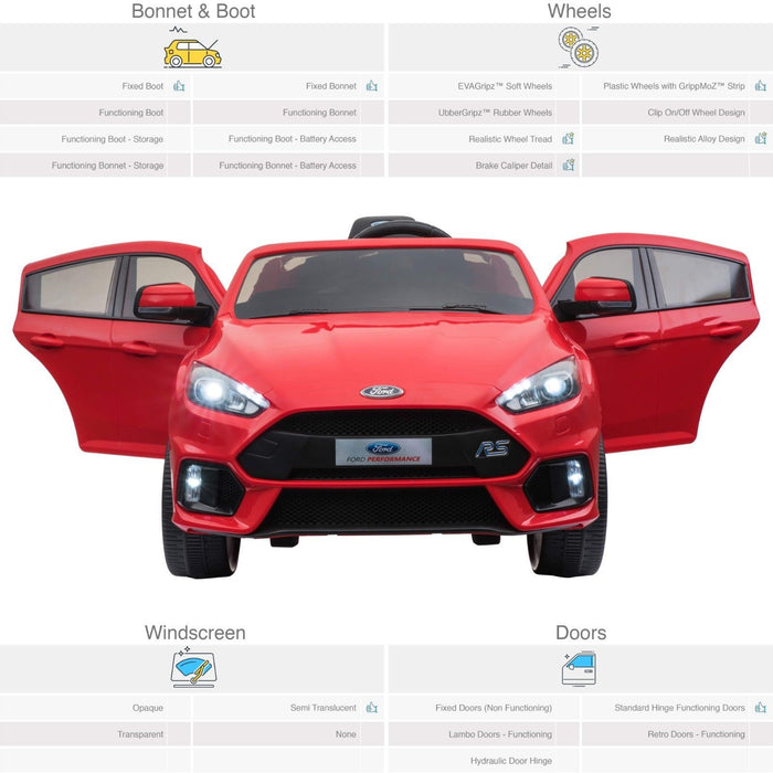 RiiRoo Ford Focus RS Ride On Car - 12V 2WD
