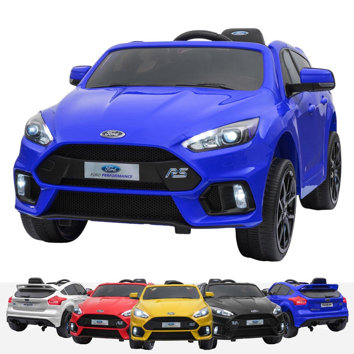 RiiRoo Ford Focus RS Ride On Car - 12V 2WD Blue