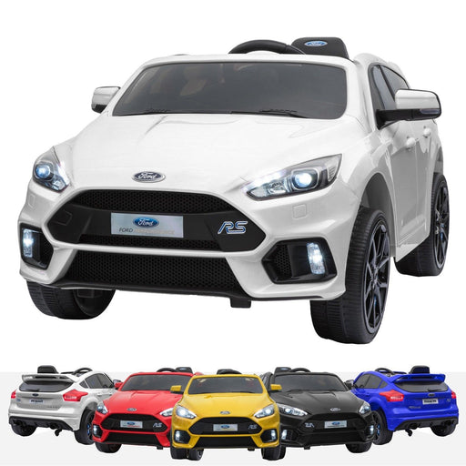 RiiRoo Ford Focus RS Ride On Car - 12V 2WD White