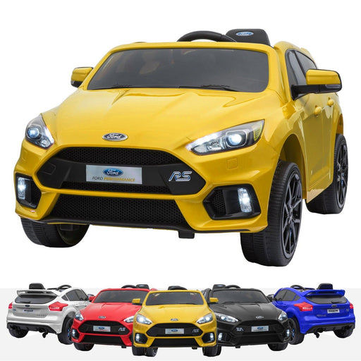 RiiRoo Ford Focus RS Ride On Car - 12V 2WD Yellow