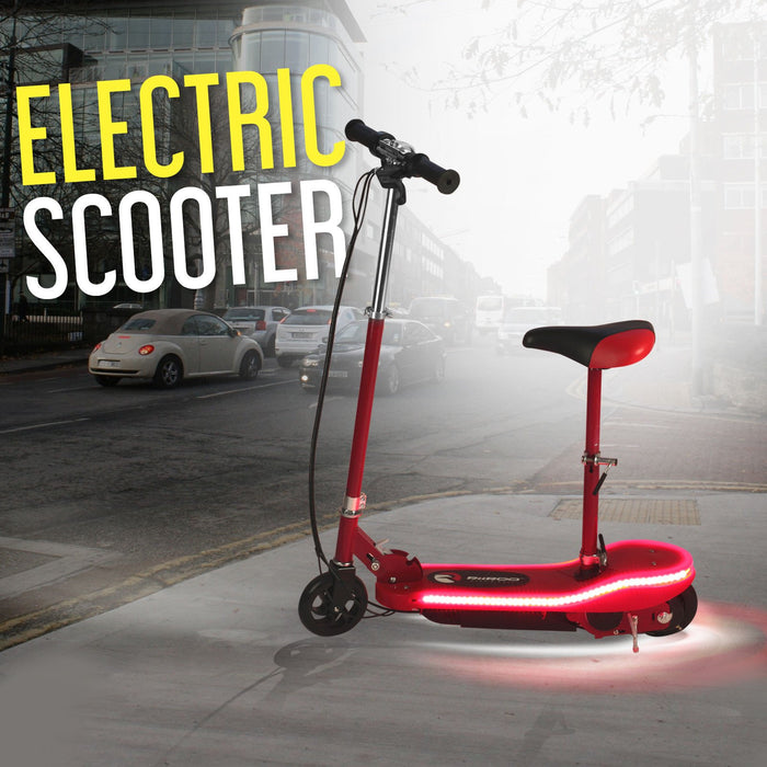 RiiRoo Kids Electric Scooter With Seat & LED's