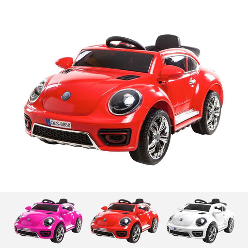 RiiRoo Kids VW Beetle Style Ride on Car - 12v Battery Red