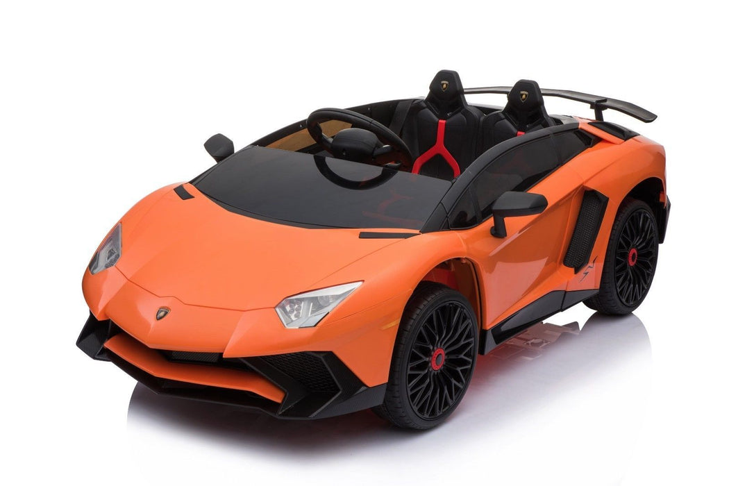 RiiRoo Lamborghini Aventador Ride on Car - 12V 2WD Orange