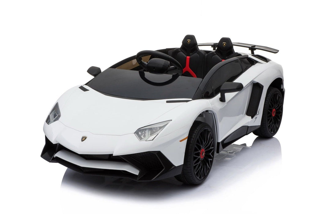 RiiRoo Lamborghini Aventador Ride on Car - 12V 2WD White