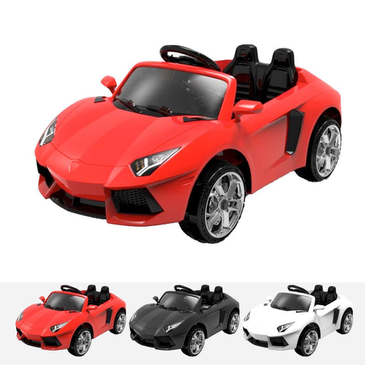 RiiRoo Lamborghini Aventador Style Mini Ride on Car - 12V 2WD Red