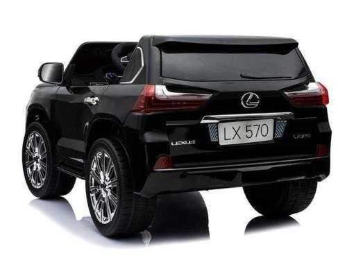 Lexus Lx 570 Kids 4wd Licensed 24v Electric Ride On Car In Black