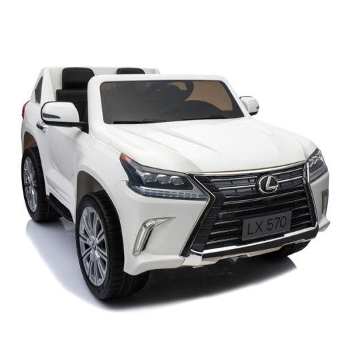 RiiRoo Lexus LX 570 Ride on Car - 24V 4WD White