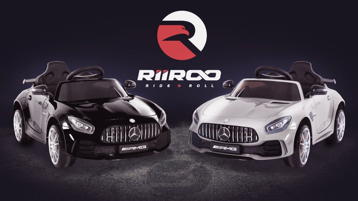 RiiRoo Mercedes Benz AMG GT R Ride On CarMercedes Benz AMG GT R Ride On Carin black and white