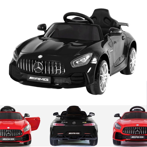 RiiRoo Mercedes Benz AMG GT R Ride On Car in black and red