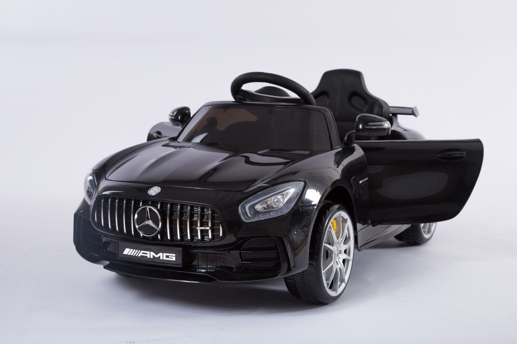 RiiRoo Mercedes Benz AMG GT R Ride On Car in black front view