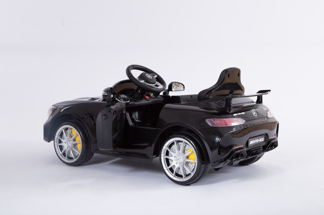 RiiRoo Mercedes Benz AMG GT R Ride On Car in black left rear