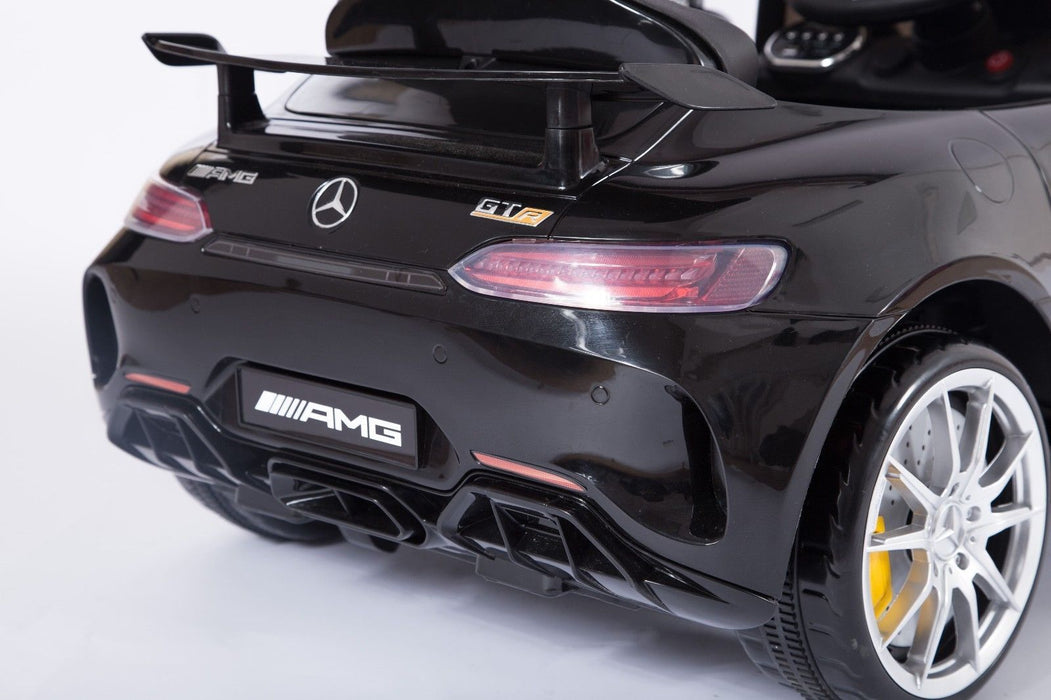 RiiRoo Mercedes Benz AMG GT R Ride On Car in black rear close