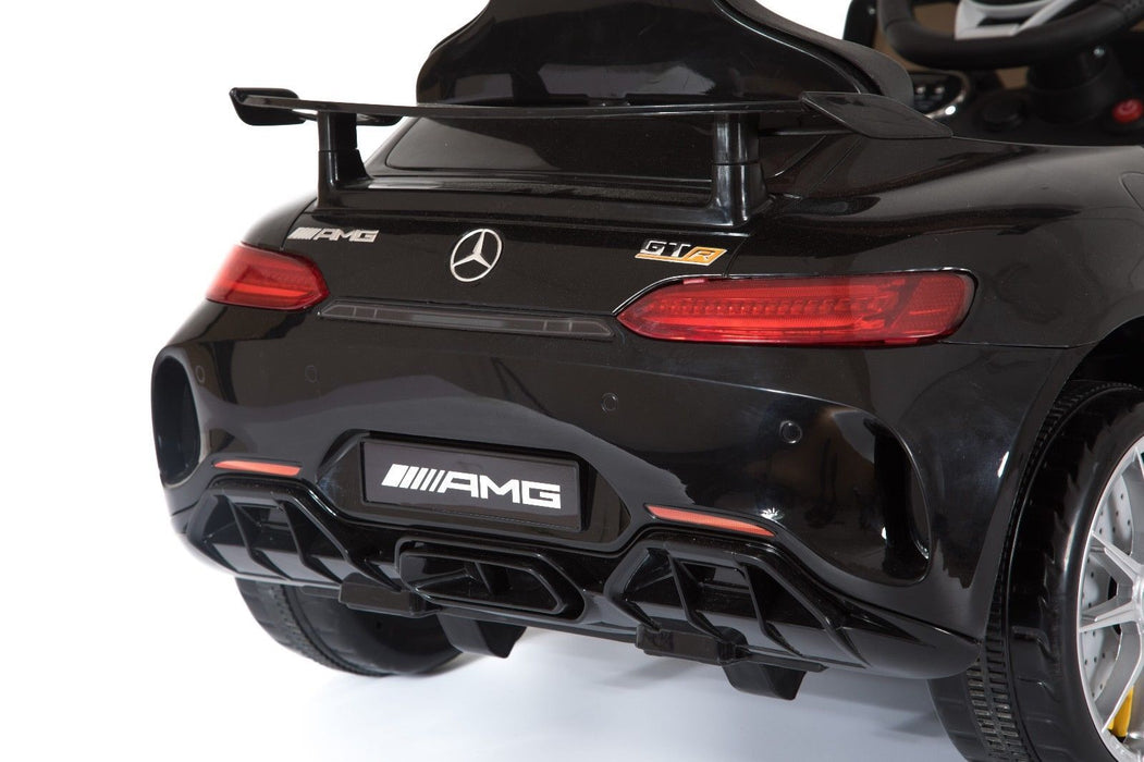 RiiRoo Mercedes Benz AMG GT R Ride On Car in black rear close up