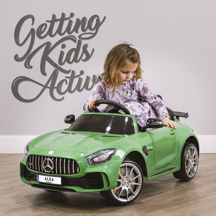 RiiRoo Mercedes Benz AMG GT R Ride On Car in green