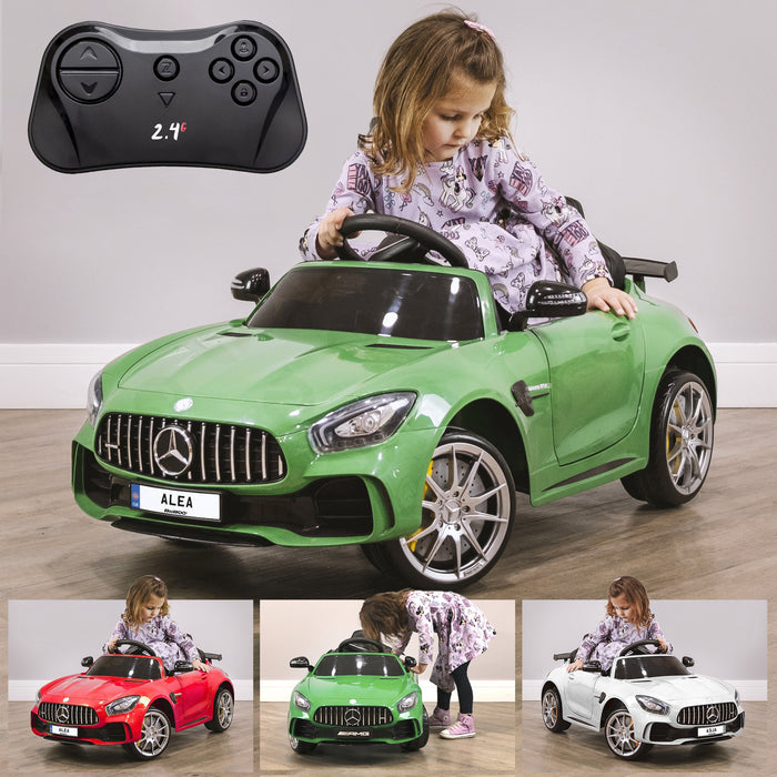 RiiRoo Mercedes Benz AMG GT R Ride On Car in green and other colours Green