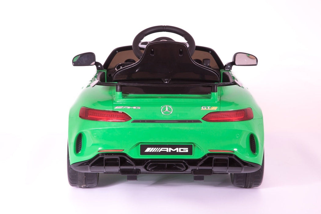 RiiRoo Mercedes Benz AMG GT R Ride On Car in green back
