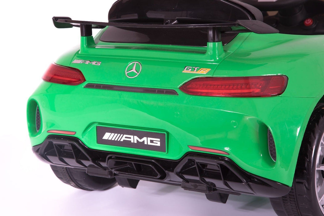 RiiRoo Mercedes Benz AMG GT R Ride On Car in green back view