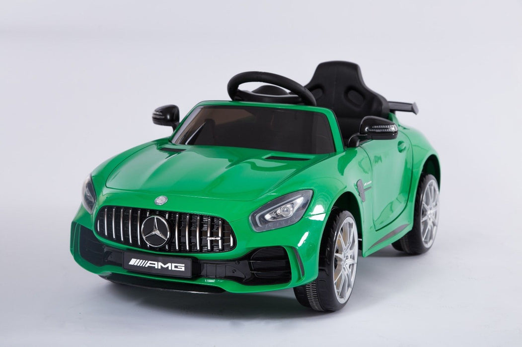 RiiRoo Mercedes Benz AMG GT R Ride On Car in green front