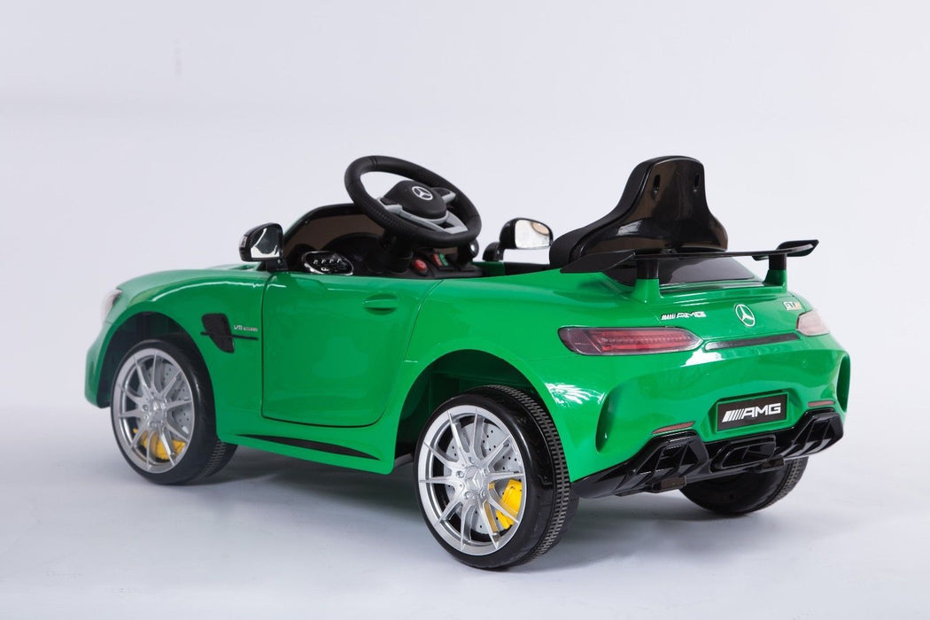 RiiRoo Mercedes Benz AMG GT R Ride On Car in green left rear