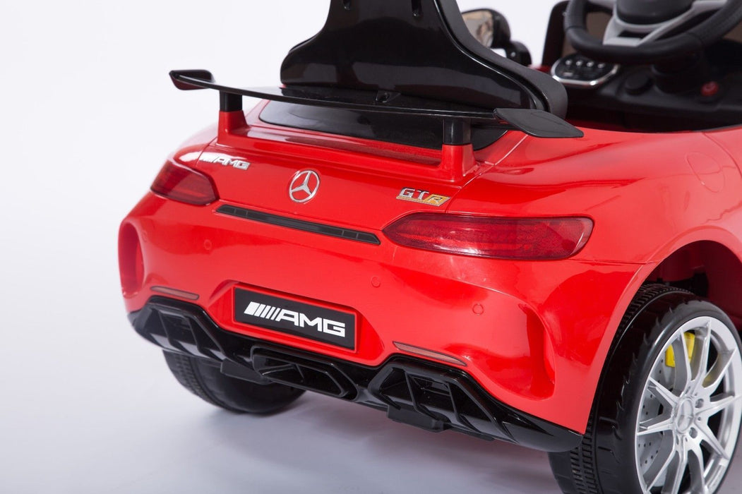 RiiRoo Mercedes Benz AMG GT R Ride On Car in red back view