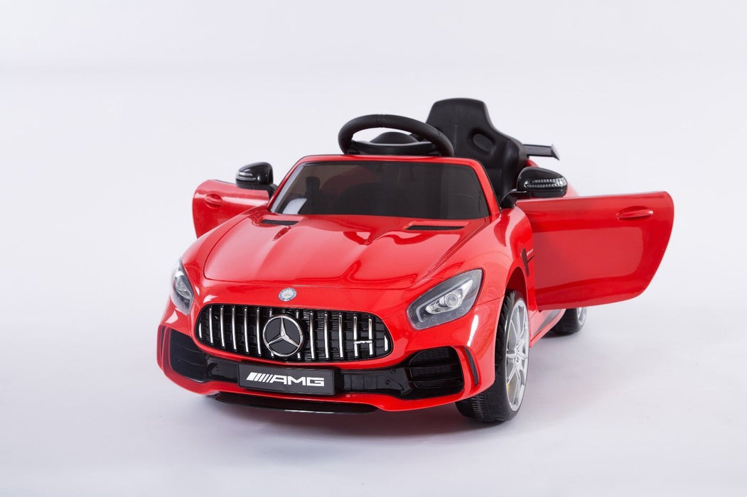 RiiRoo Mercedes Benz AMG GT R Ride On Car in red front