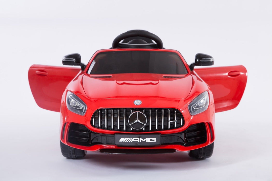 RiiRoo Mercedes Benz AMG GT R Ride On Car in red with doors open