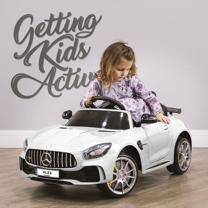 RiiRoo Mercedes Benz AMG GT R Ride On Car in white