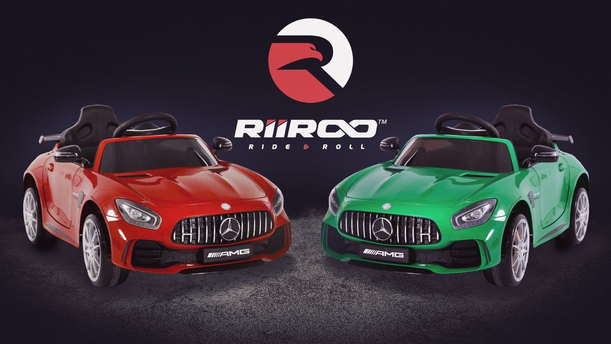 RiiRoo Mercedes Benz AMG GT R Ride On Car red and green front
